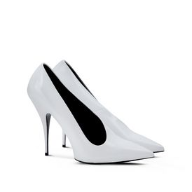 White Pointed Pumps