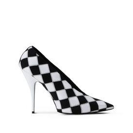 STELLA McCARTNEY Pumps D Black and White Checked Pointed Pumps f
