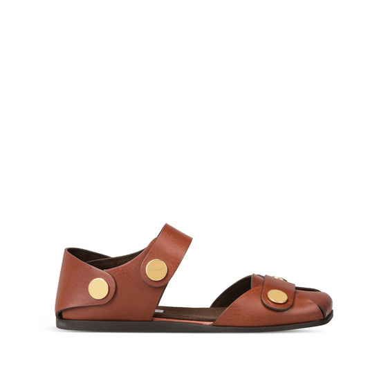 Collection Flat Sandals in Tan