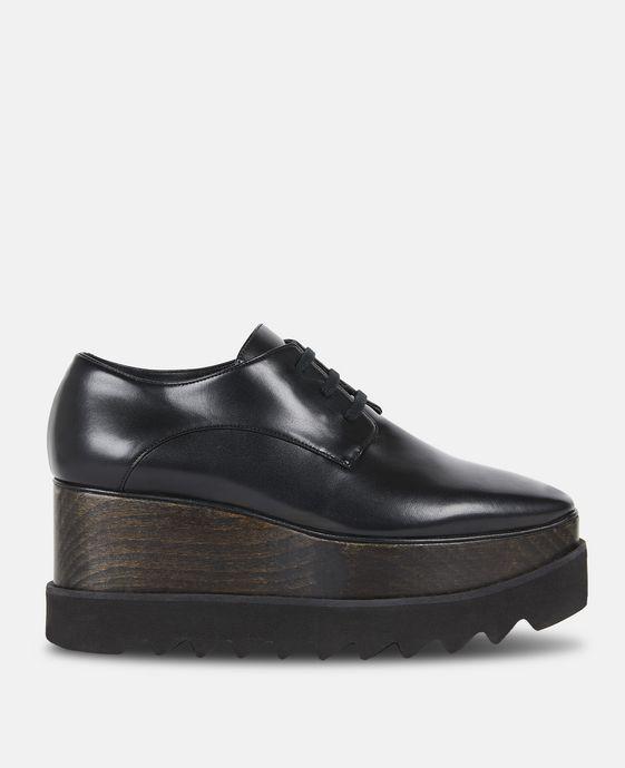 STELLA McCARTNEY Chaussures Elyse entièrement noires Semelles compensées D c