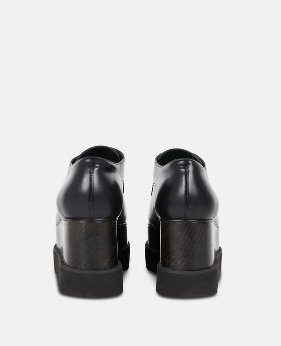 STELLA McCARTNEY Chaussures Elyse entièrement noires Semelles compensées D g