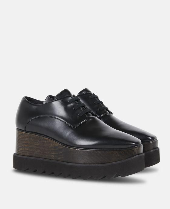STELLA McCARTNEY Chaussures Elyse entièrement noires Semelles compensées D h