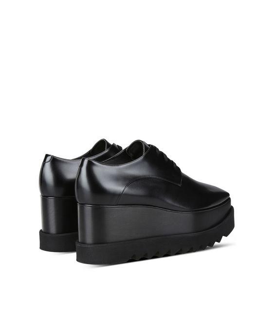 STELLA McCARTNEY Chaussures Elyse entièrement noires Semelles compensées D i