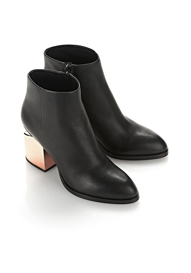 GABI BOOTIE WITH ROSE GOLD METAL HEEL | BOOTS