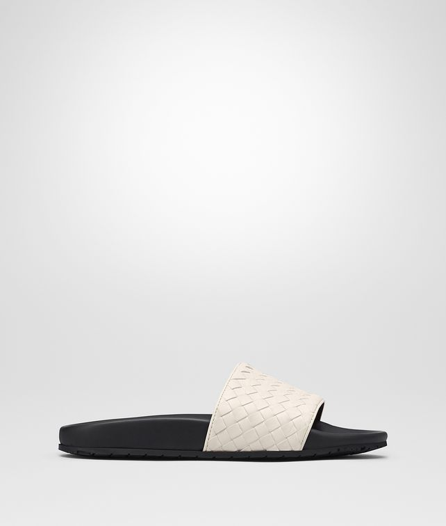 BOTTEGA VENETA LAKE SANDAL IN MIST INTRECCIATO CALF Pump or Sandal D fp