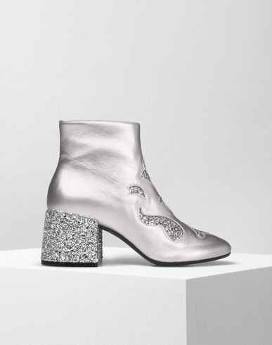 MM6 by MAISON MARGIELA Ankle boots D Metallic leather ankle boots f