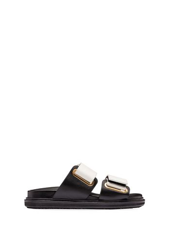 Marni Fussbett with calfskin and velcro bands Woman