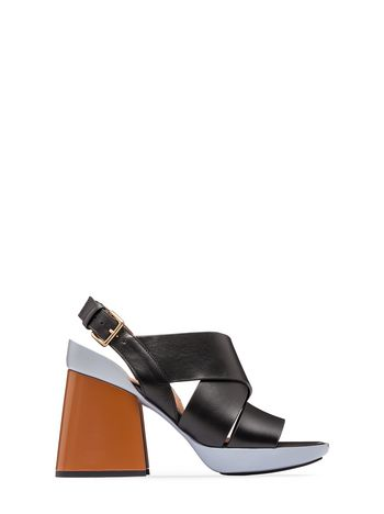 Marni Sling-back sandal in calfskin Woman