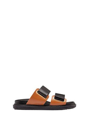 Marni Velcro strap fussbett in calfskin Woman