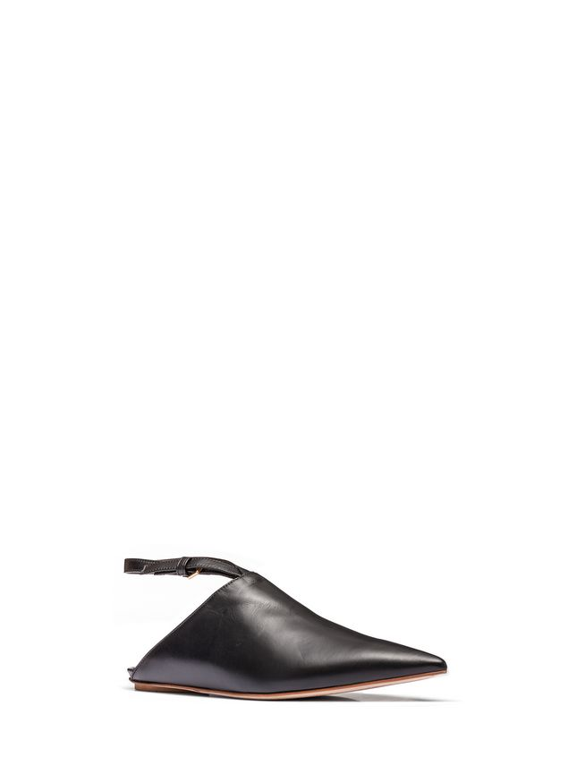 Marni Ankle-strap sabot in nappa Woman - 2