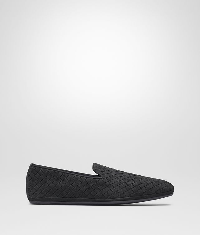BOTTEGA VENETA FIANDRA SLIPPER IN ARDOISE INTRECCIATO SUEDE Mocassin or Slipper Man fp