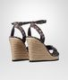 BOTTEGA VENETA WEDGE IN MIST NERO ESPRESSO SATIN Pump or Sandal D dp