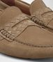BOTTEGA VENETA WAVE DRIVER IN CAMEL SUEDE, INTRECCIATO DETAILS Mocassin or Slipper Man ap