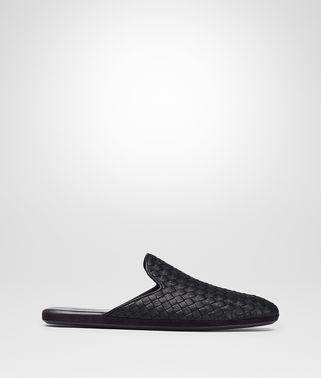 FIANDRA SLIPPER IN NERO INTRECCIATO CALF