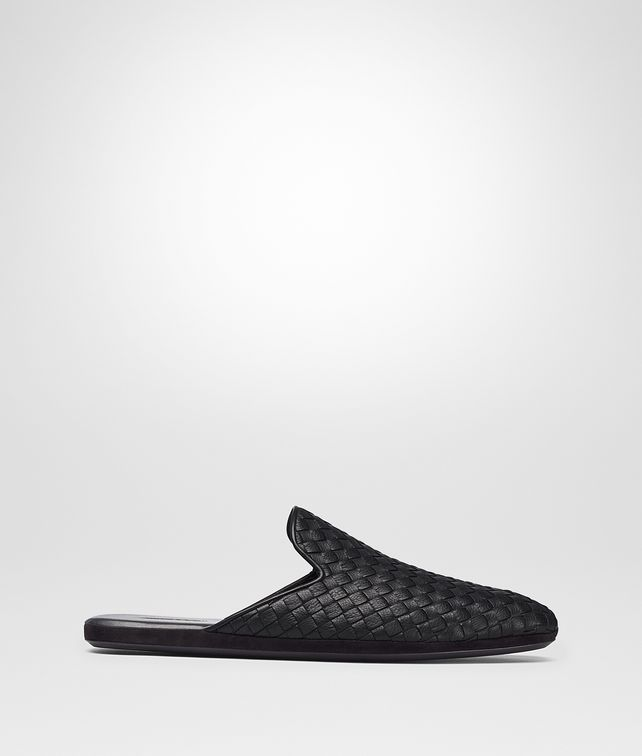 BOTTEGA VENETA NERO INTRECCIATO CALF FIANDRA SLIPPER Mocassin or Slipper [*** pickupInStoreShippingNotGuaranteed_info ***] fp