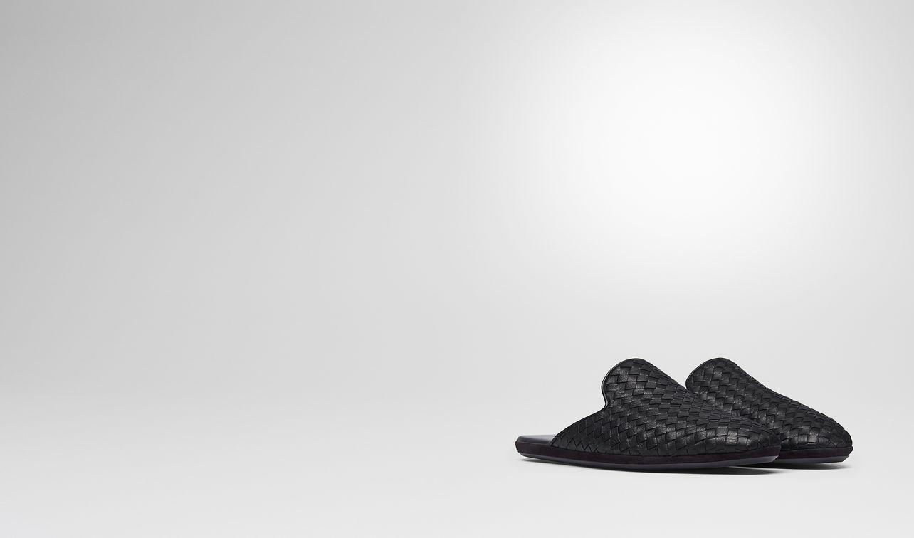 nero intrecciato calf fiandra slipper landing