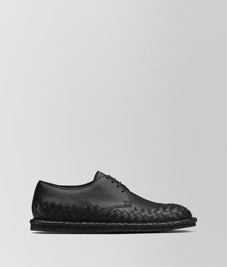 IAC LACE UP IN NERO CALF, INTRECCIATO DETAILS