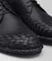 BOTTEGA VENETA IAC LACE UP IN NERO CALF, INTRECCIATO DETAILS Lace Up Man ap