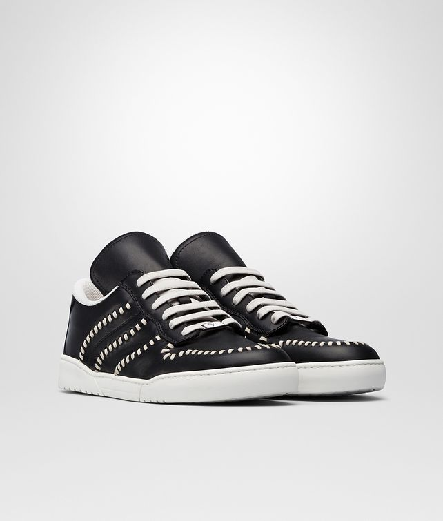 BOTTEGA VENETA SNEAKER HEEZE IN VITELLO NERO Sneaker o Sandalo Uomo fp