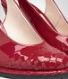 BOTTEGA VENETA WEDGE IN CHINA RED INTRECCIATO PATENT CALF Pump or Sandal Woman ap