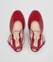 BOTTEGA VENETA WEDGE IN CHINA RED INTRECCIATO PATENT CALF Pump or Sandal Woman ep