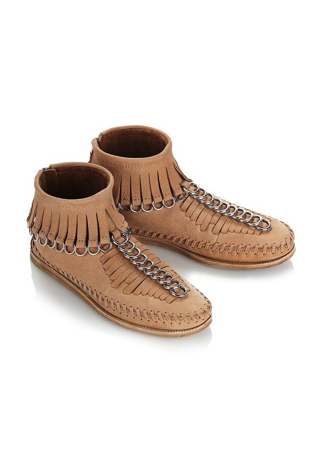 ALEXANDER WANG Montana Nubuck Moccasin Boots