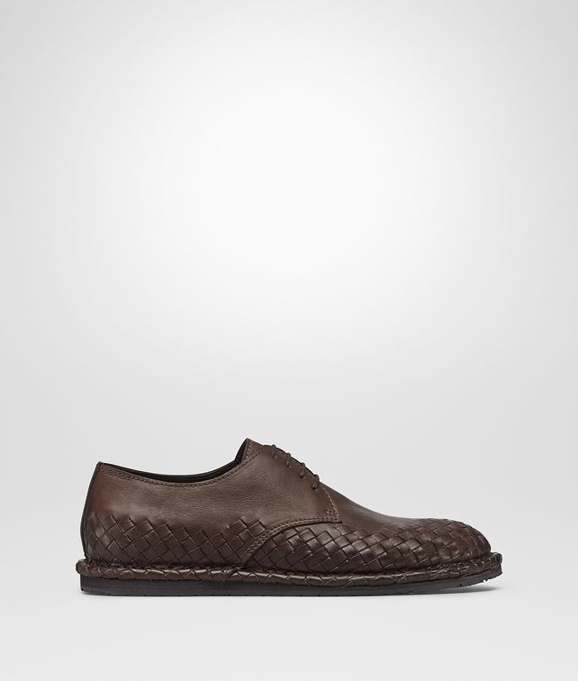 BOTTEGA VENETA IAC LACE UP IN EDOARDO CALF, INTRECCIATO DETAILS  Lace Up Man fp