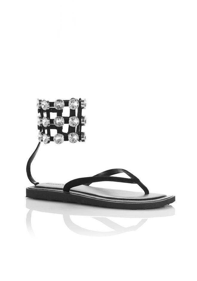 ALEXANDER WANG new-arrivals-shoes-woman AUBREY FLIP FLOP WITH GLASS STONES