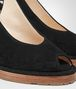 BOTTEGA VENETA WEDGE IN NERO INTRECCIATO SUEDE Sandals Woman ap
