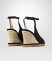 BOTTEGA VENETA WEDGE IN NERO INTRECCIATO SUEDE Sandals Woman dp