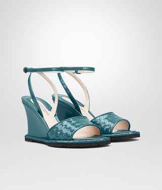 WEDGE IN BRIGHTON INTRECCIATO PATENT CALF