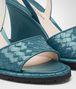BOTTEGA VENETA WEDGE IN BRIGHTON INTRECCIATO PATENT CALF Pump or Sandal Woman ap