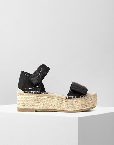MM6 by MAISON MARGIELA Wedge D Patent leather espadrillas f