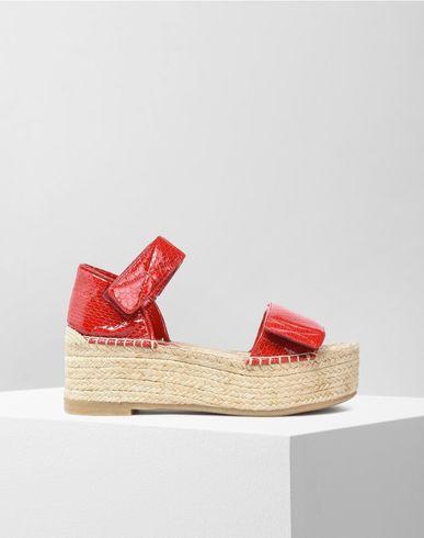 MM6 by MAISON MARGIELA Sandals D Patent leather espadrillas f