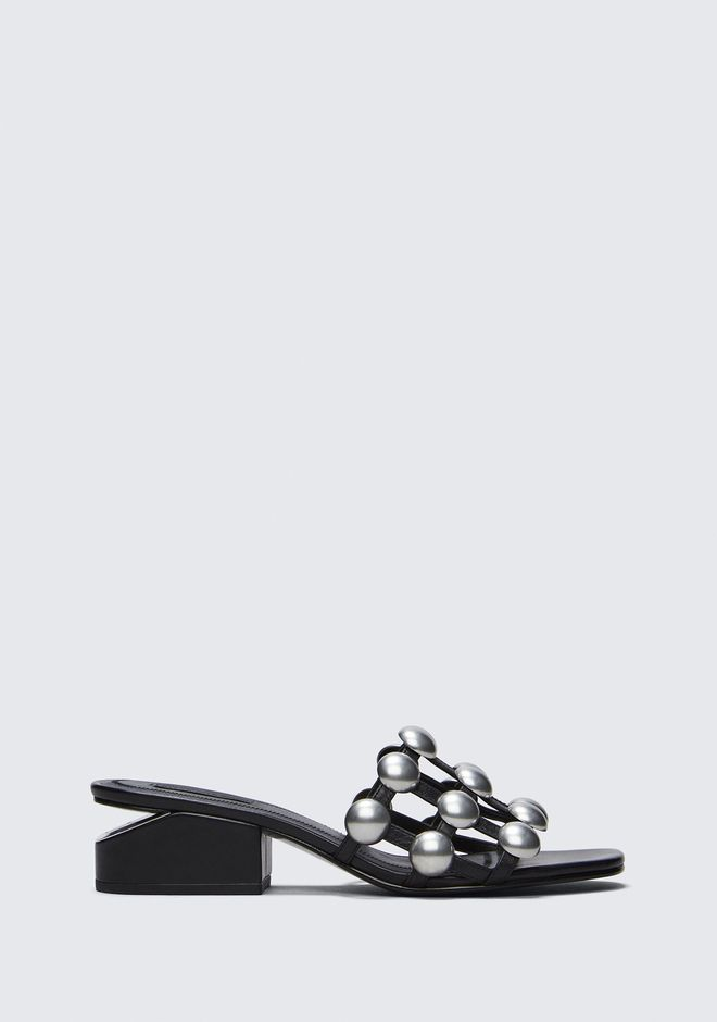 ALEXANDER WANG FLATS DOME STUD LOU WITH RHODIUM
