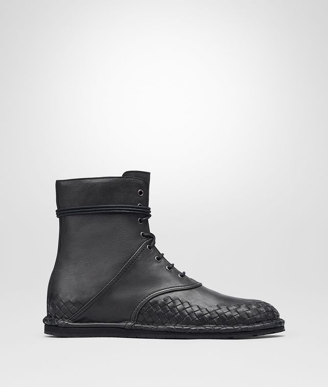 BOTTEGA VENETA IAC ANKLE BOOT IN ARDOISE CALF, INTRECCIATO DETAILS  Boots and ankle boots U fp
