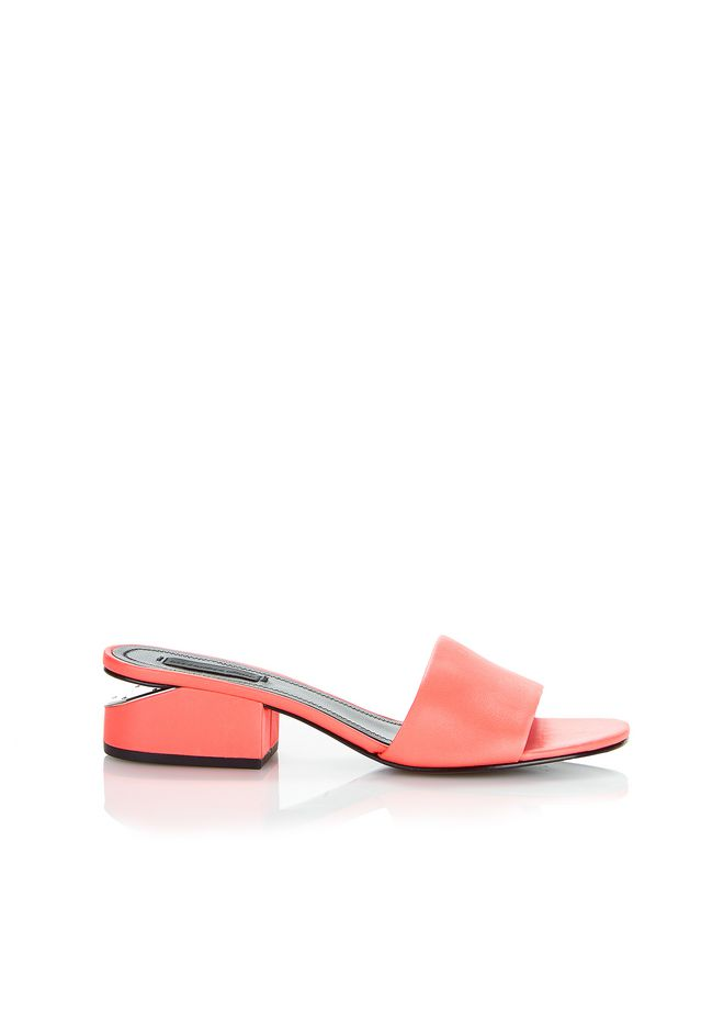 ALEXANDER WANG FLATS LOU SANDAL WITH RHODIUM