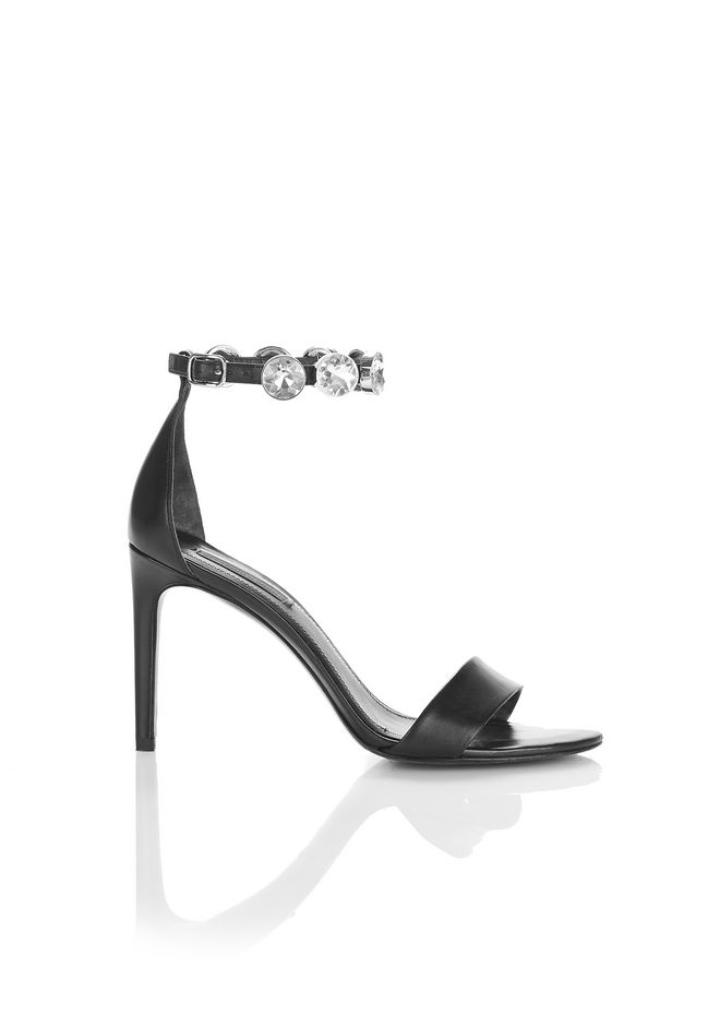ALEXANDER WANG new-arrivals-shoes-woman BRYNN HIGH HEEL SANDAL WITH GLASS STONES