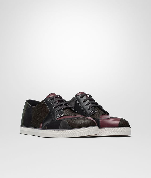 BOTTEGA VENETA HEEZE SNEAKER IN MULTICOLOR AND MULTIMATERIAL, INTRECCIATO Sneaker or Sandal U fp