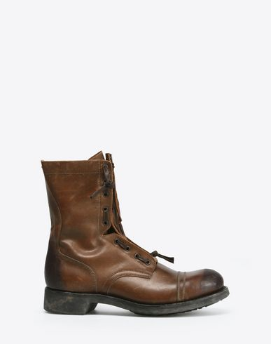 MAISON MARGIELA Ankle boots U Zip-up calfskin combat boots f