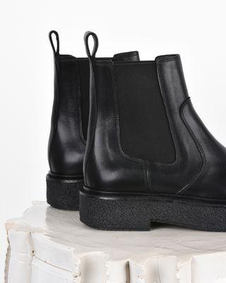 ISABEL MARANT BOOTS D Celton Leather platform chelsea boots d