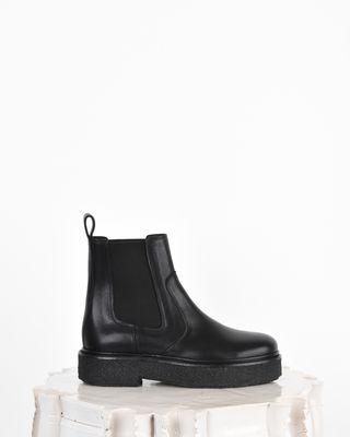 Celton Leather platform chelsea boots