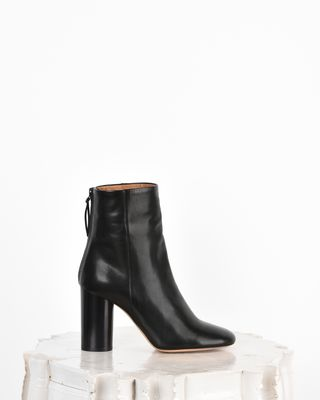 Garett Leather high heel ankle boots