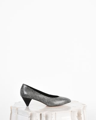 Poomi Python-look leather pumps