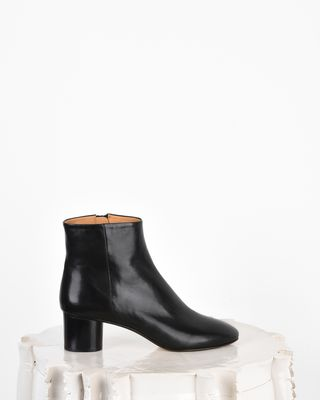 Danay Leather mid heel ankle boots
