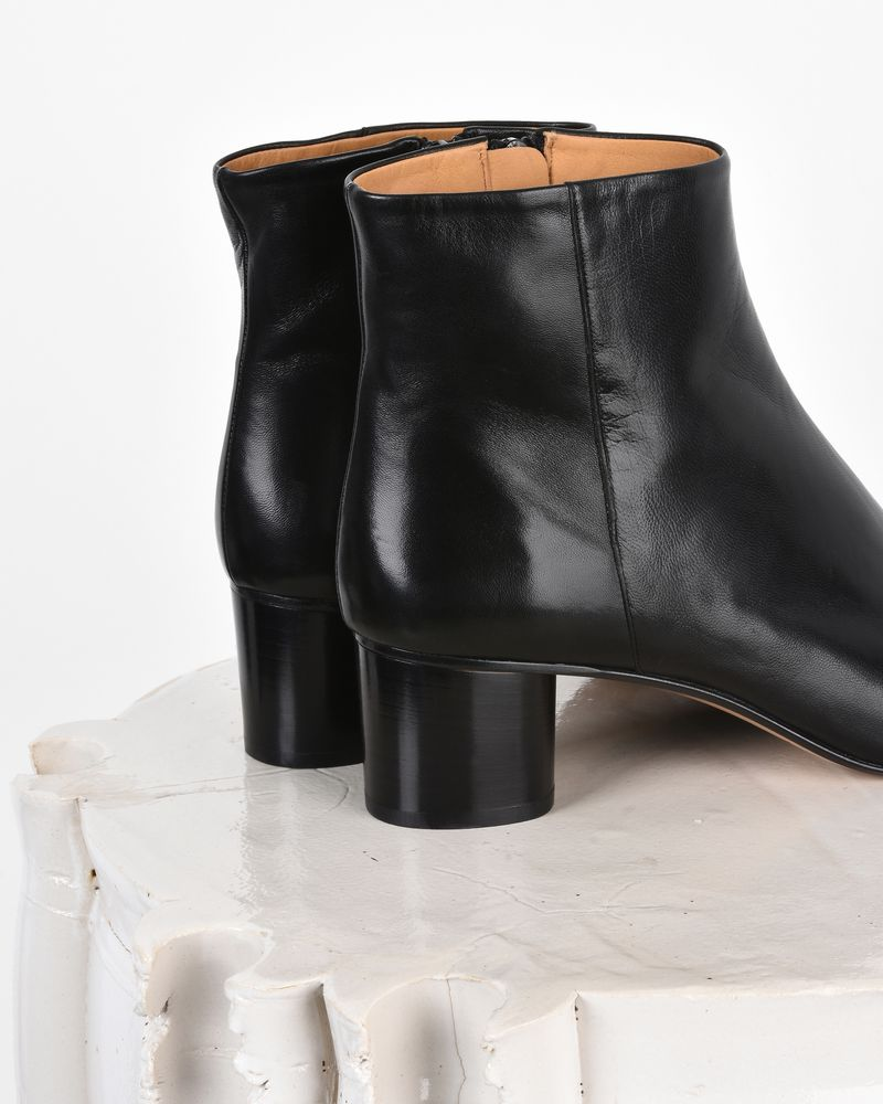 Isabel Marant Leather Lace-Up Ankle Boots