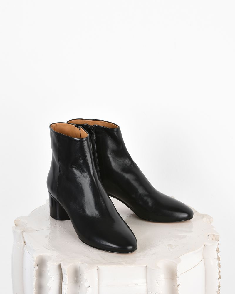 Danay Leather mid heel ankle boots  ISABEL MARANT