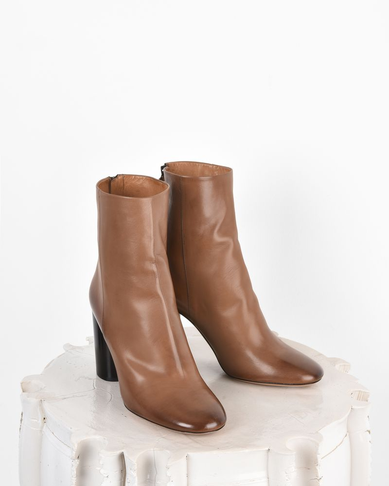 Garett 皮革高跟踝靴 ISABEL MARANT