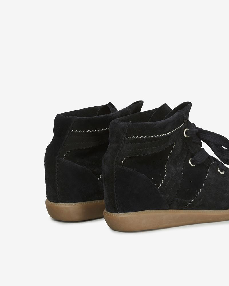 Bobby Suede wedge heel lace-up trainers ISABEL MARANT