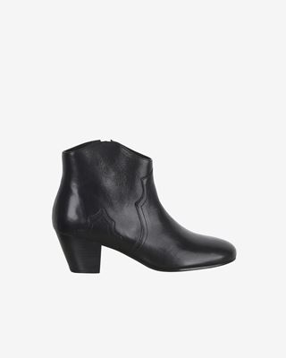 Dicker Leather mid heel ankle boots